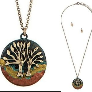 Jewelry - Tree of Life Disk Pendant necklace set